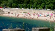 Public beach in Spain, Marin on a sunny day video