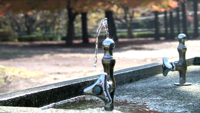 public drinking fountain video