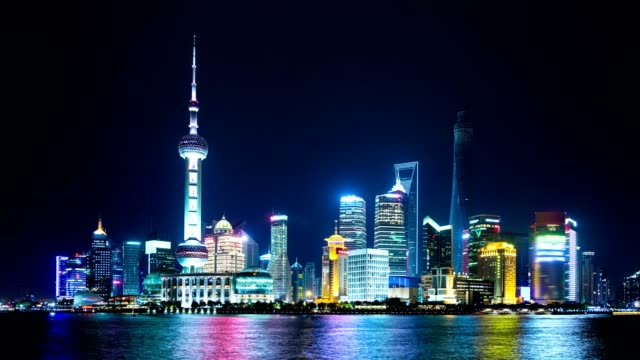 Pudong Skyline of Shanghai, China. video