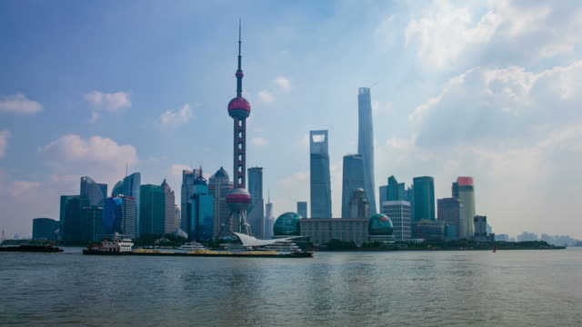 Pudong timelapse with Shanghai tower video