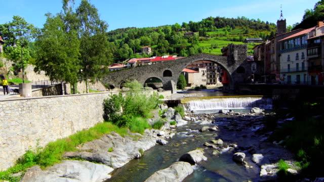 Puente Nuevo (Camprodon), Ter River - Springtime video