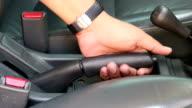 pulling handbrake of a car video