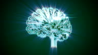 Pulsating electronic brain with rays video