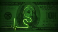 Pulse Trace on the Dollar Sign | Loopable video