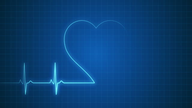 EKG Pulse Trace with Heart Shape | Loopable video