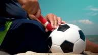 Pumping a Football Ball video