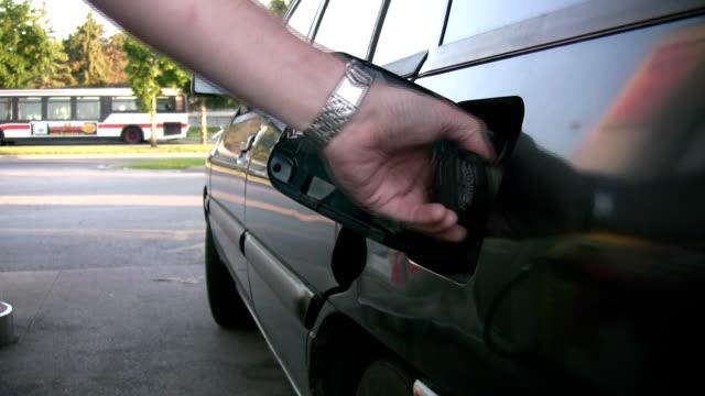 Pumping gas. video