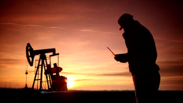 Pumpjack Silhouette video