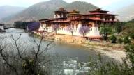 punakha dzong at paro, bhutan video