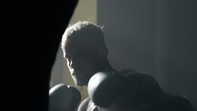Punching bag workout video
