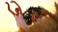 HD SUPER SLOW-MOTION: Punching The Air In Wheat Field video