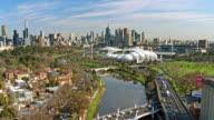 Punt Road Bridge, Yarra River, Melbourne, Victoria, Australia video