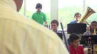 Pupils Playing Musical Instruments In School Orchestra video