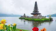 Pura Ulun Danu Bratan is a major water temple on Lake Bratan, Bali, Indonesia video