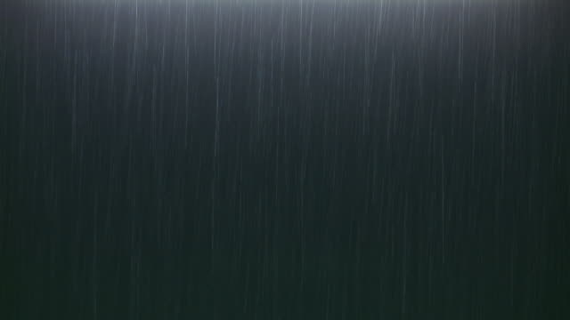 HD Pure rain at night on black background video