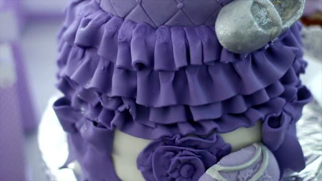 Purple Birthday Baby Cake video