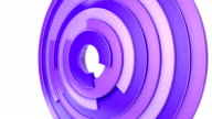 Purple circles background on white, loop. video