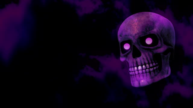 Purple Halloween Skull video