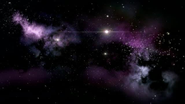 Purple interstellar nebula video