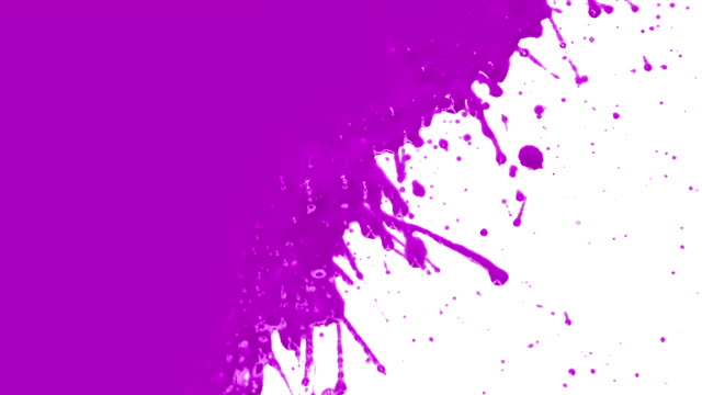 Purple paint splattering. Transition. video