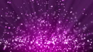 Purple particle background and light rays video