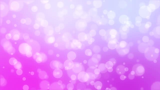 Purple pink bokeh holiday background video