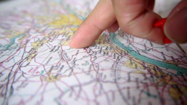 Pushpin on map video