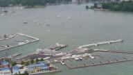 Put-in-Bay, Ohio Marina seen from above video