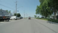 Put-in-Bay, Ohio streets, time lapse video passing Perry's Victory & International Peace Memorial video
