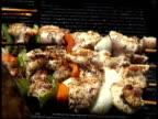 Puting Chicken Kebabs, Kebobs, Kebaps, Kibobs on Grill video