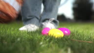 Putting easter eggs in basket video