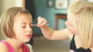 Putting eyeliner on video
