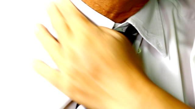 putting on elegant tie video