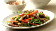 Py stir-fried dishes video