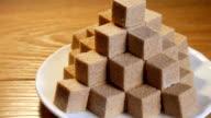 Pyramid from sugar cubes video