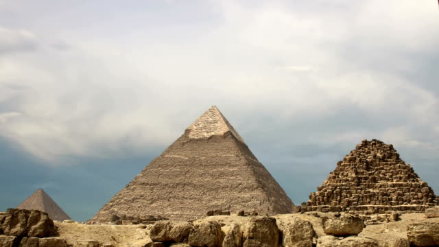 Pyramids and clouds. Cairo. Egypt. video
