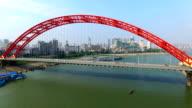 Qingchuan Bridge in Wuhaan Hubei China video