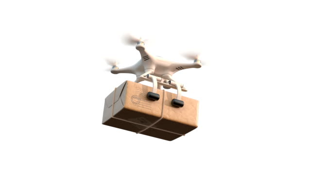 Quadcopter delivers mail video