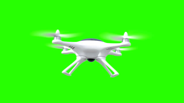 Quadcopter, four seamless looped 3d animations video