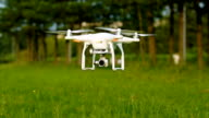 RC quadcopter takes off video