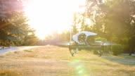 Quadrocopter drone with remote control video