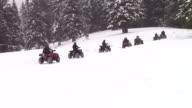 Quads on snow trail video