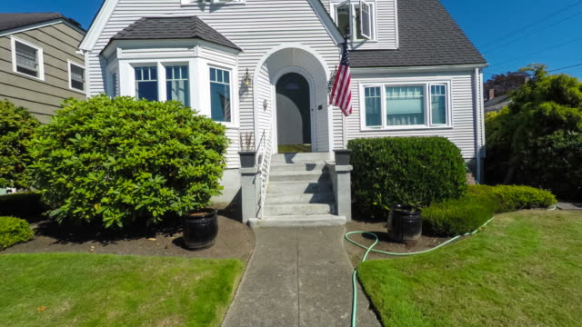 Quaint American Suburban Home Exterior video