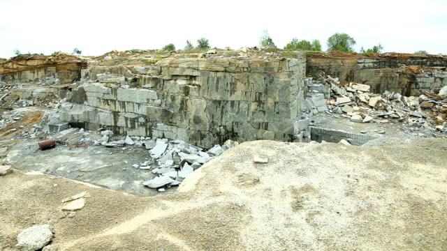 Quarry mining granite video