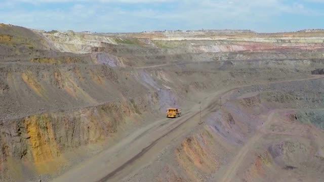 Quarry panorama, Career panorama overall plan, Industrial exterior video