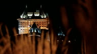 Quebec City and Chateau Frontenac at Night video
