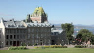 Quebec City and Chateau Frontenac on Summer Day video