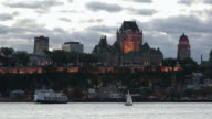 Quebec City Waterfront at Sunset video