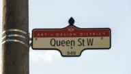 Queen Street West Sign video