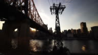 Queensboro Bridge and Manhattan skyline video